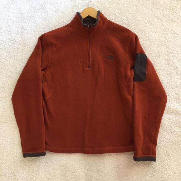 d8f767c0b The North Face dark sienna zip fleece pullover